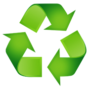 A recycling symbol