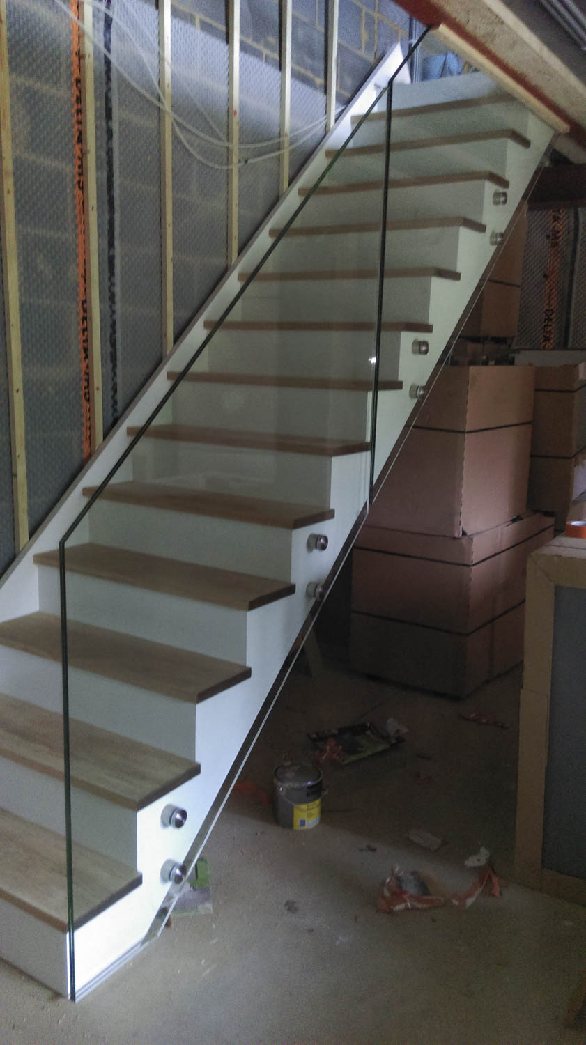 Your Stair Glass Can Be Grooved Into The Handrail And Baserail Or Hung On  Selected Metal Brackets. We Can Also Incorporate Lighting Effects To Give  Your ...